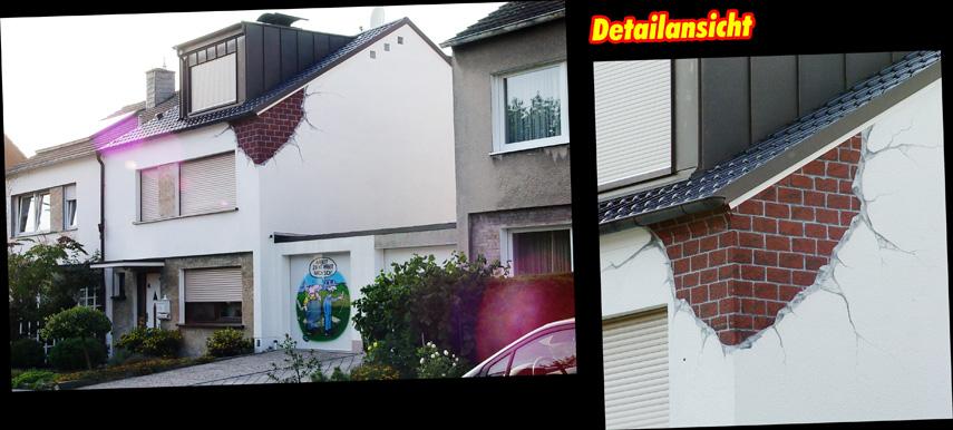 Fassadenmalerei nrw k nstlerische hausbemalungen fassadenkunst k ln hausfassadenmalerei - Aussenwand gestalten ...
