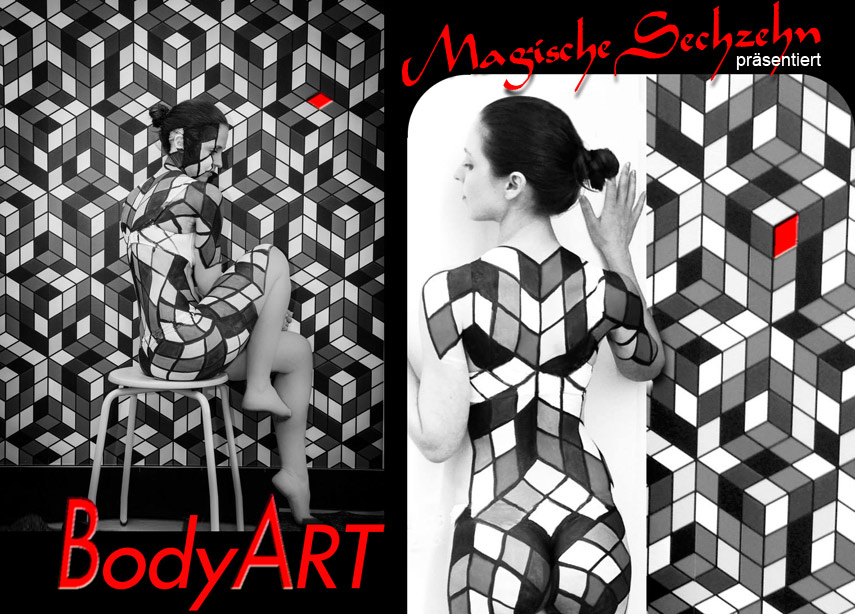 Bodypaint-Illusionsmalerei