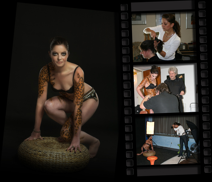 Bodypainting mit Fotoshooting