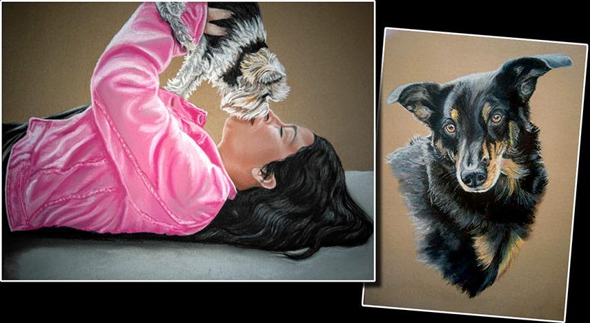 meinen hund malen lassen hundeportrait nach foto den eigenen hund malen lassen hundeportrait. Black Bedroom Furniture Sets. Home Design Ideas