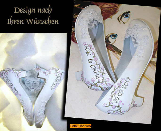 Schuhe Individuell Gestalten Lassen Personalised Wedding Shoes