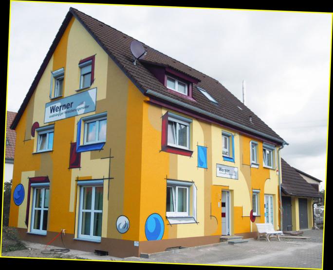 Hausbemalungen nrw hausbemalung firmenwerbung auf for Raumgestaltung stein dresden