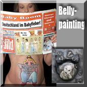 Babybauch Bodypainting.