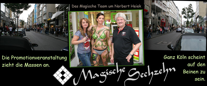 Promotionaktion Bodypainting