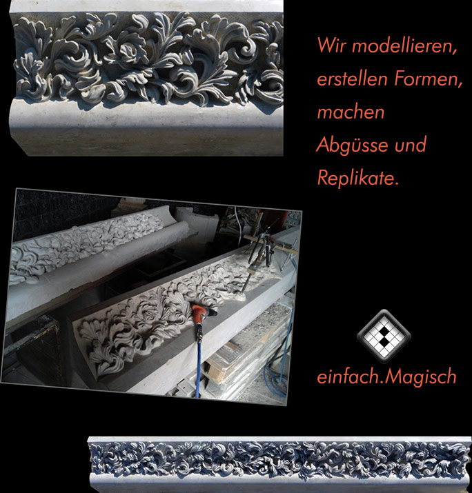 Reproduktion von Skulpturen