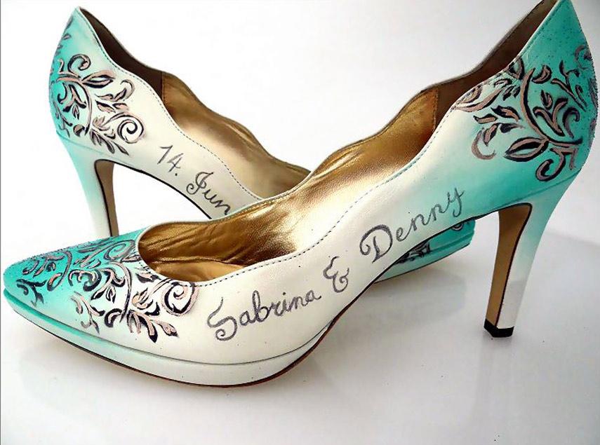 Schuh Bemalung Nrw Hochzeitsschuhe Bemalen Lassen Individuelle