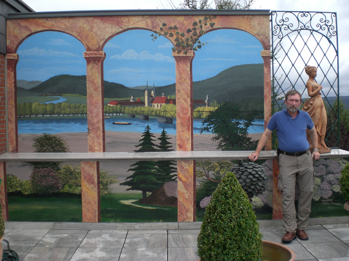 Fassadenmalerei wandbemalungen nrw hausbemalung for Wandmalerei ideen